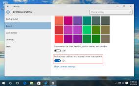windows 10 increase taskbar transparency via the registry