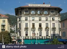 albergo miralago hotel cernobbio lake como italy stock photo