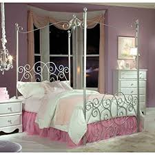 Princess Canopy Bed Standard Furniture Princess Canopy Bed In Silver Metal