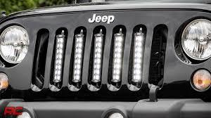 jeep jk led light bar installing 2007 2017 jeep wrangler jk vertical 8 inch led light