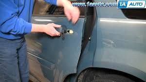 how to install replace outside door handle chevy equinox 05 09