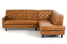 Brown Leather Sectional Sofas by Divani Casa Kyler Modern Brown Leather Sectional Sofa