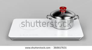 Pots And Pans For Induction Cooktop Frying Pan Cooking Pot Induction Stove Stock Illustration