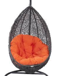 belle hanging egg chair black wicker swing burnt orange cool