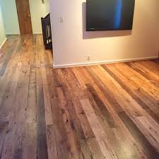 reclaimed white and red oak mix finished with bona dts sealer and