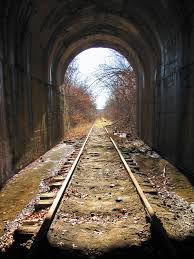 abandoned rock island railroad tunnel in south kansas city unused