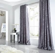 Luxury Grey Curtains Midtown Eyelet Lined Curtains Silver Luxury Ringtop Curtains