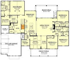 farm house floor plans 4 bed modern farmhouse with bonus garage 51773hz