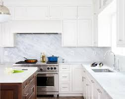 White Marble Backsplash Design Ideas - Marble backsplashes