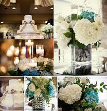 hydrangea wedding reception centerpieces elegant ivory wedding cake