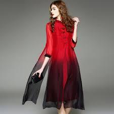 2017 vintage long dress women boho plus size women clothing pure