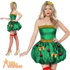 fever christmas tree costume ladies festival xmas fancy