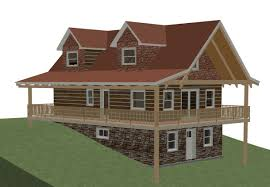 walkout basement plans ranch home with hillside house lake cabin