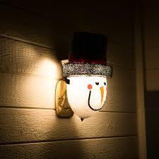 amazon com snowman porch light cover u2014 light up your night with a