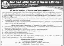 Jobs Economics Degree by Jobs In Elementary And Secondary Education Department Azad Kashmir