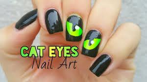 halloween cat eye nail art polished inka tigers eye nail art