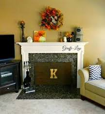Diy Fireplace Cover Up Fireplace Cover Child Proofing The Stone Hearth Gray And White