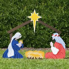 Christmas Decoration Outside Church by 15 Best Nativity Homemade Images On Pinterest Outdoor Nativity