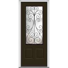 glass outside door mmi door 37 5 in x 81 75 in camelia decorative glass 3 4 lite
