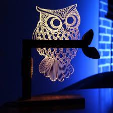 sedeter 3d owl shape night light led desk table light lamp amazon