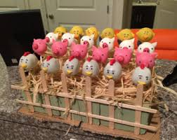 12 farm animal cake pops