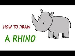 drawing lessons for kids how to draw a rhino step by step youtube