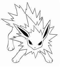 pokemon coloring pages jolteon free desktop coloring pokemon
