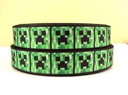 minecraft ribbon uk seller minecraft creeper 1 7 8 ribbon grab by reelsofribbon