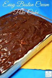 make a delicious and easy boston cream poke cake
