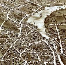 Birds Eye View Maps Exeter Nh In 1896 Bird U0027s Eye View Map Aerial Panorama