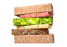 bacon wrapping paper cheeseburger wrapping paper the green