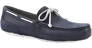 ugg australia blue chester sheepskin ugg mens chester suede moccasins in blue for lyst