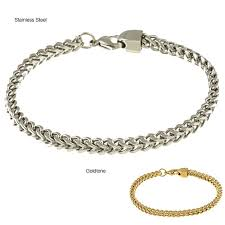 metal link bracelet images Men 39 s stainless steel cuban link bracelet free shipping on jpg