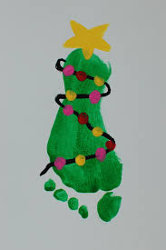 mistletoe toddler feet pinkie for pink kids christmas art