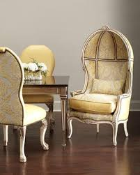 hickory tannery devine yellow leather side chair and balloon chair