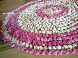 Crochet Bathroom Rug by Room Rug Round Rag Rug 24