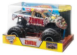 monster jam truck names amazon com wheels monster jam zombie die cast vehicle 1 24