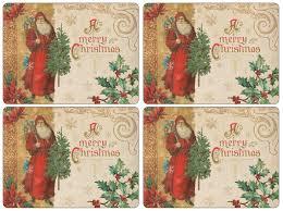 amazon com pimpernel victorian christmas placemats set of 4