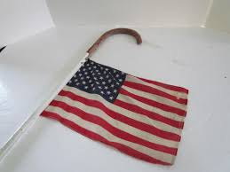 Flag 48 Stars Parade Cane Art Antiques Michigan