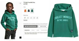 h m si e social h m apologies recist hoddie advert after serious backlashes