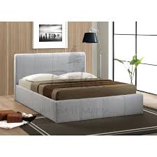 grey fabric bed frame smartwedding co