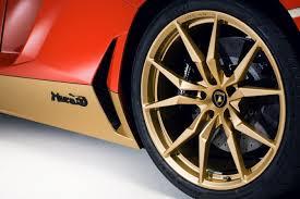 car lamborghini gold lamborghini special edition is gold red and all over car pro