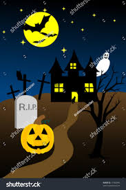 halloween graphic background halloween background old hunted castle stock vector 17360845