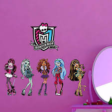 monster high home decor monster high wall sticker art decal girls room wall decals