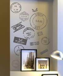travel stamp vinyl wall decals for my travel room would look