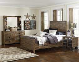 equinox panel bedroom set in distressed ash regarding distressed