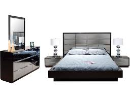 Bed Frame And Dresser Set White Painted Modern Platform Beds Profiled Makeup Vanity Mirrored