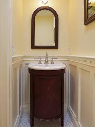 Narrow Powder Room - bathroom top small powder room vanity houzz inside plan the