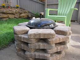 backyard grill gas grill diy fire pit we placed stone around our simple weber grill to