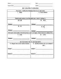 1 value and magnitude of real numbers worksheets 8th grade